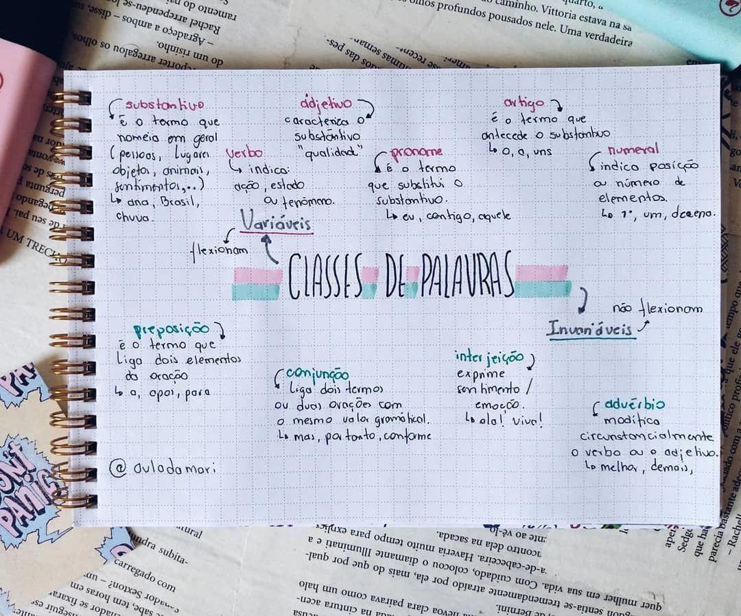 As Classes De Palavras Ou Classes Gramaticais Sao Divididas Em