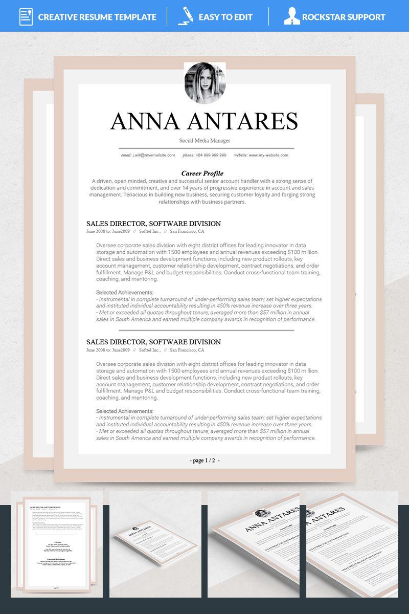 Antares Resume Template 69115 Resume Template Resume Templates Resume Template Professional