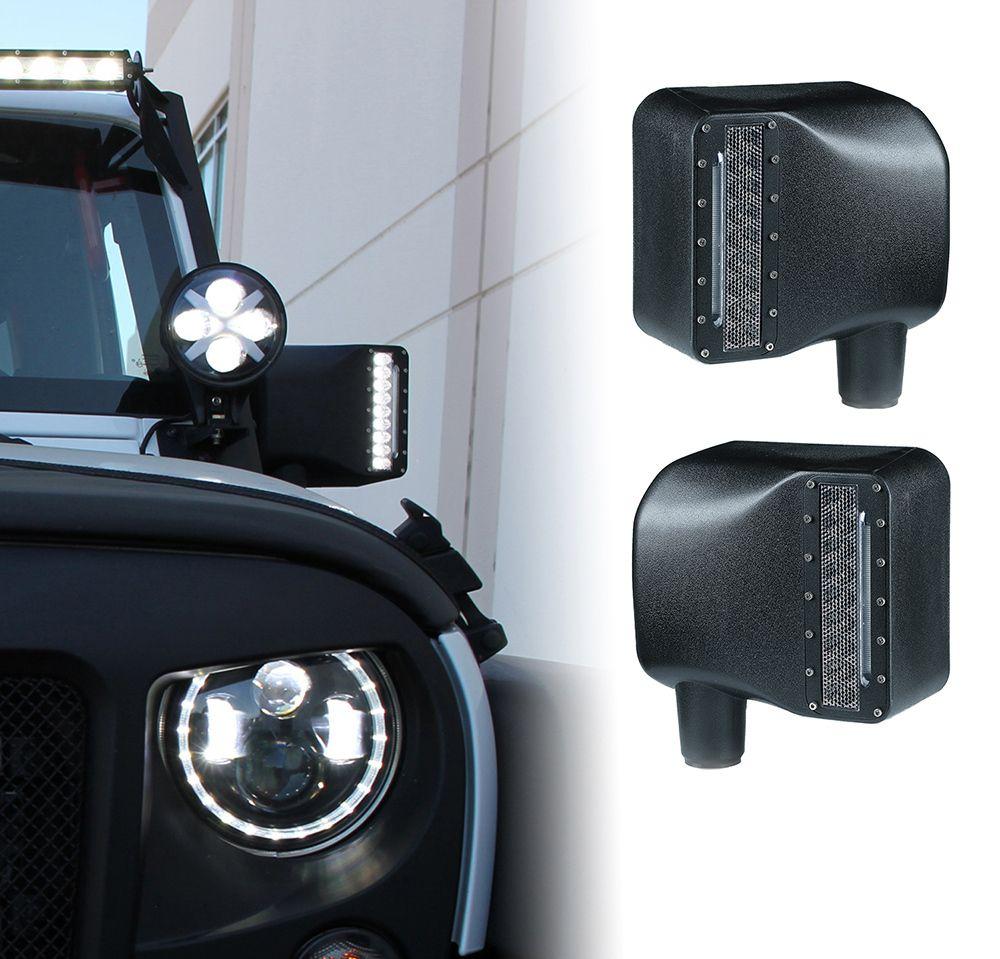 Smoked Lens Amber LED Side Marker Light for 2007-2018 Jeep Wrangler JK /& Unlimited Left