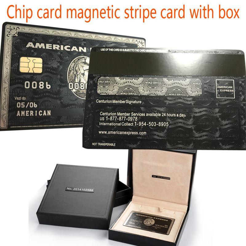 carte american express gratuite Puce carte magnétique carte à bande avec la boîte American Express