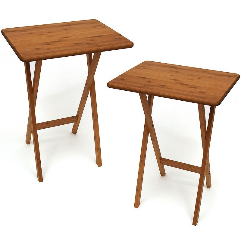 Bamboo Snack Set Of 2 Tv Tray Tables Without Lip Products