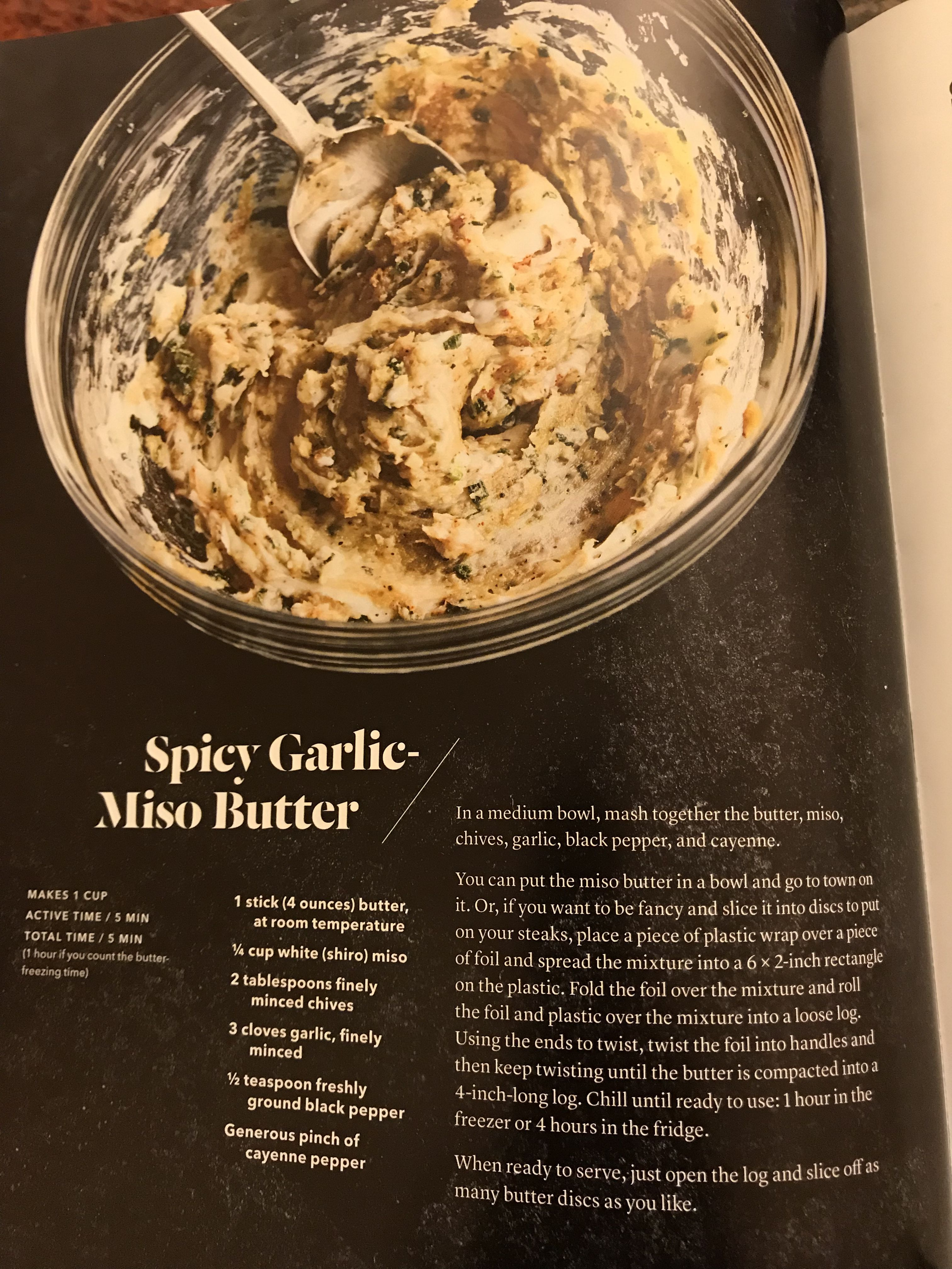 Spicy Garlic Miso Butter Miso Butter Food Eat
