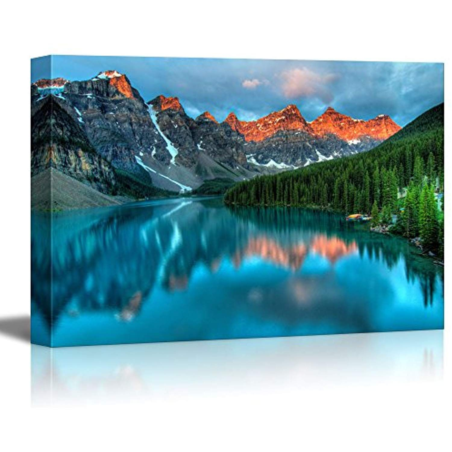 Alberta Canada Moraine Lake 9x12 Art Print, Wall Decor Travel Poster Banff