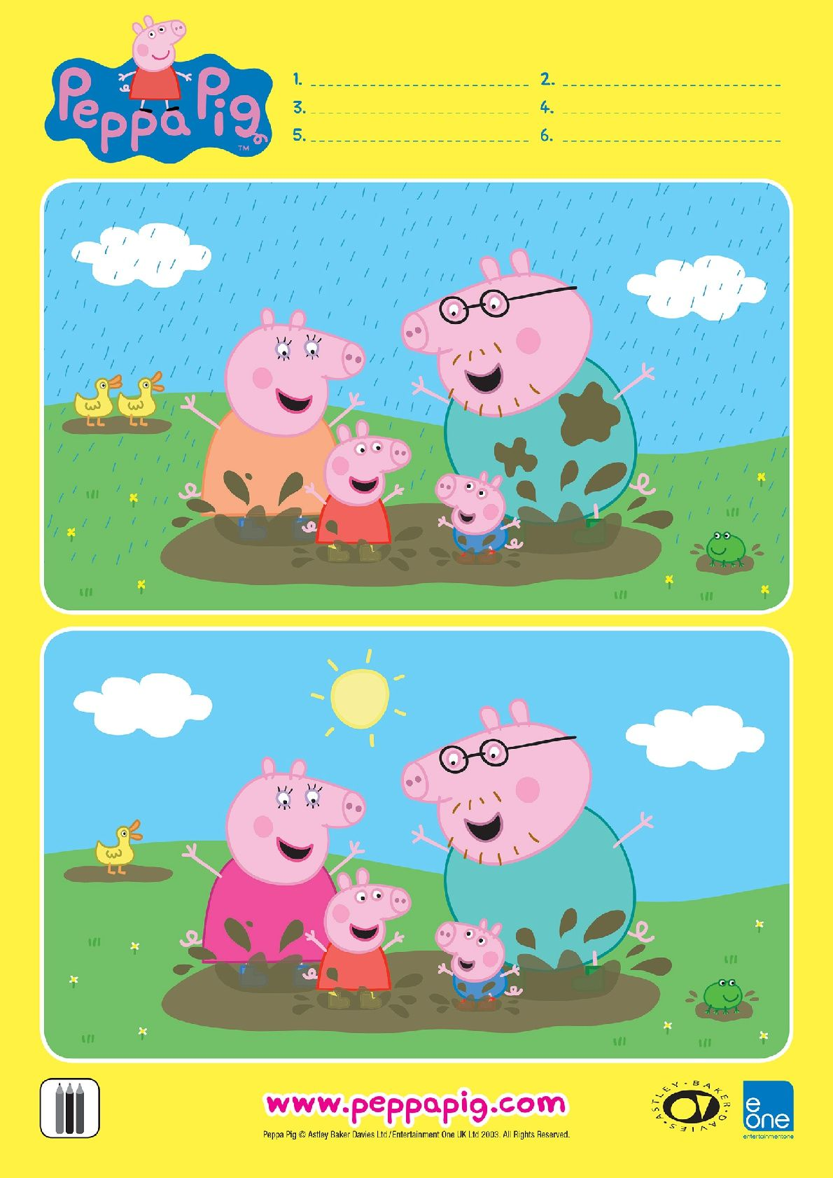 Pin By Crystal Meisenhelder On Differences Otlichiya Peppa Pig Printables Peppa Pig Birthday Party Rainy Day Activities [ 1683 x 1190 Pixel ]