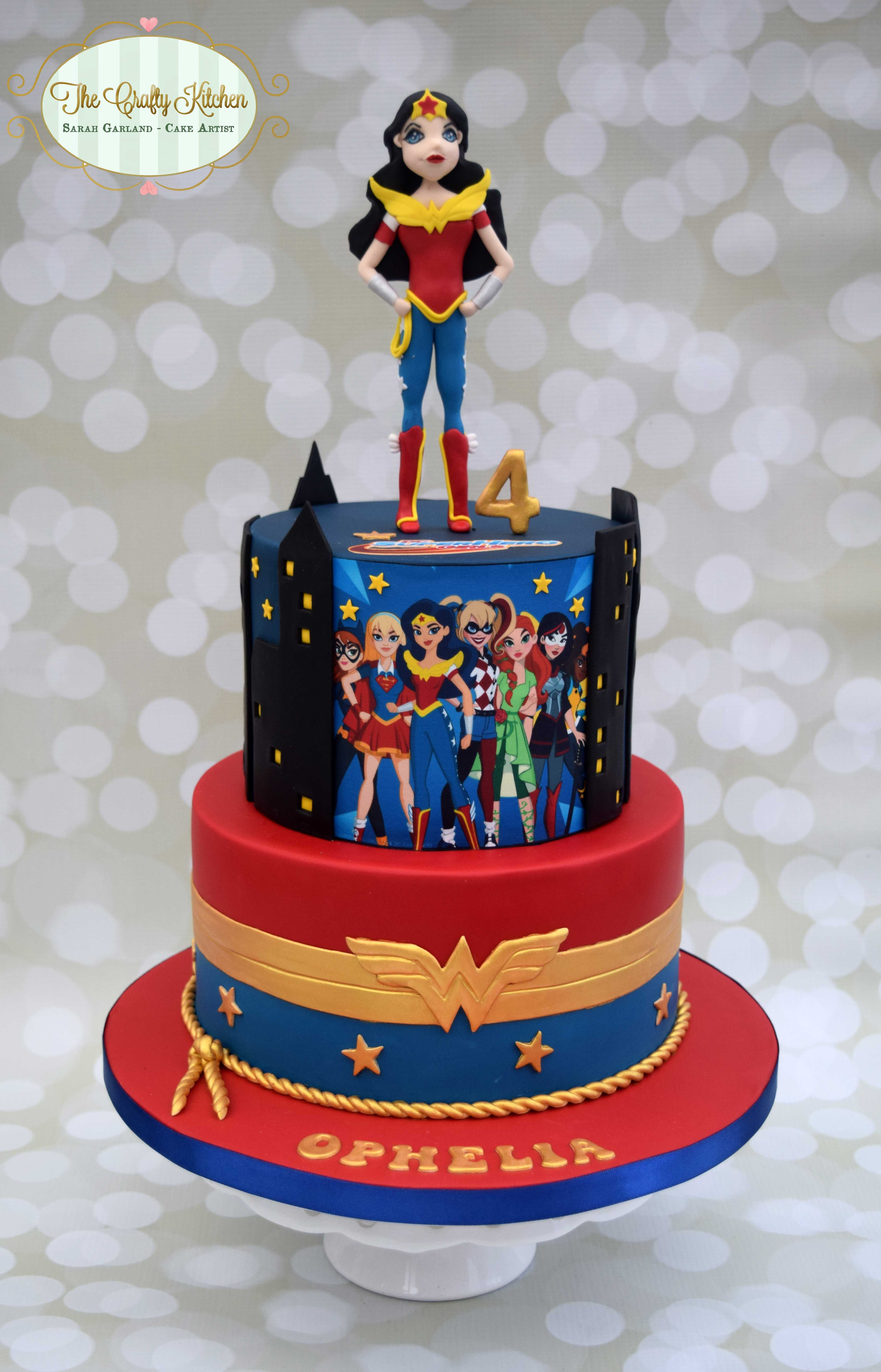 DC Superhero Girls Cake wonder woman Superheroes Pinterest