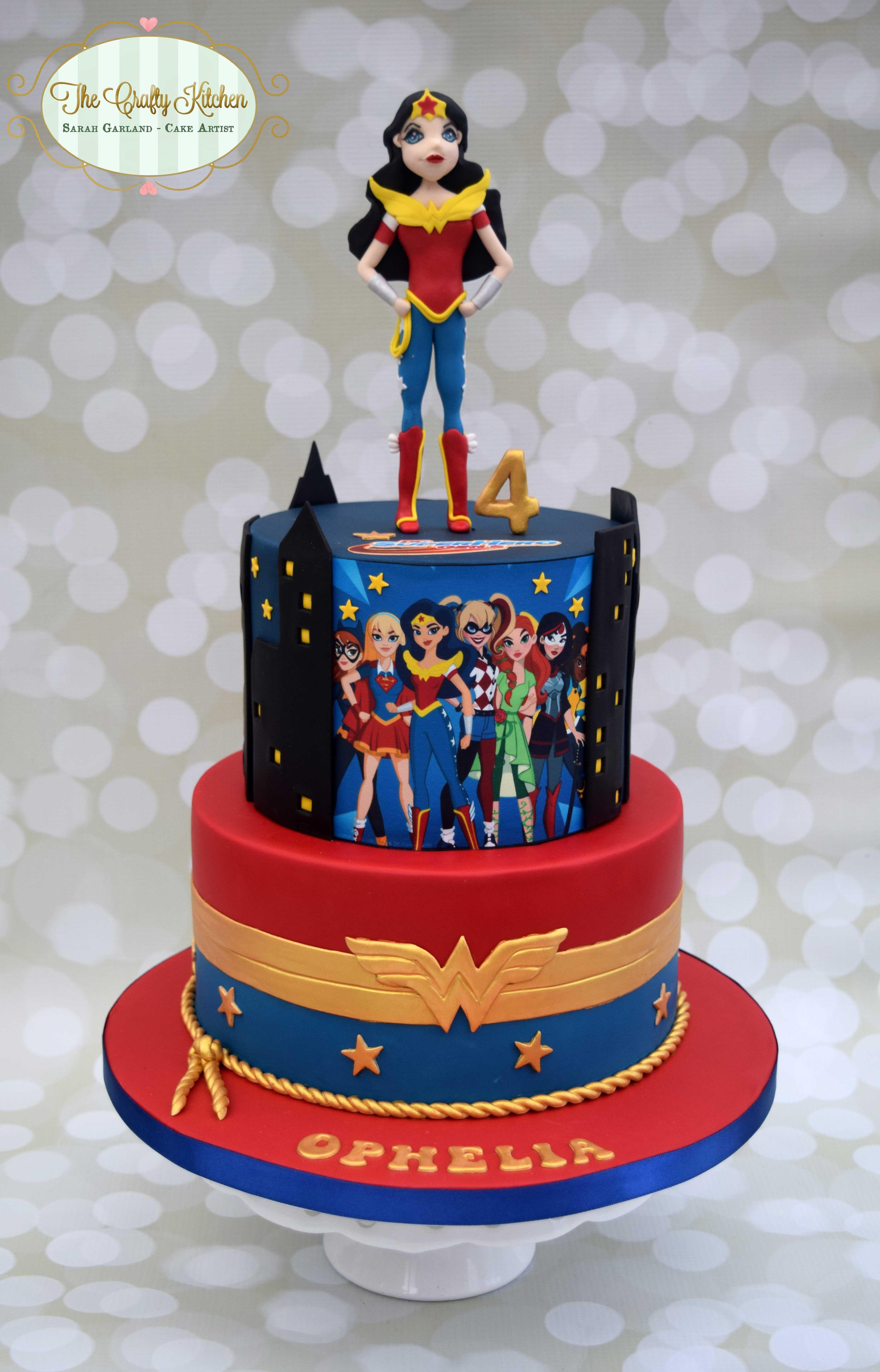 Dc superhero girls cake wonder woman superhero girls