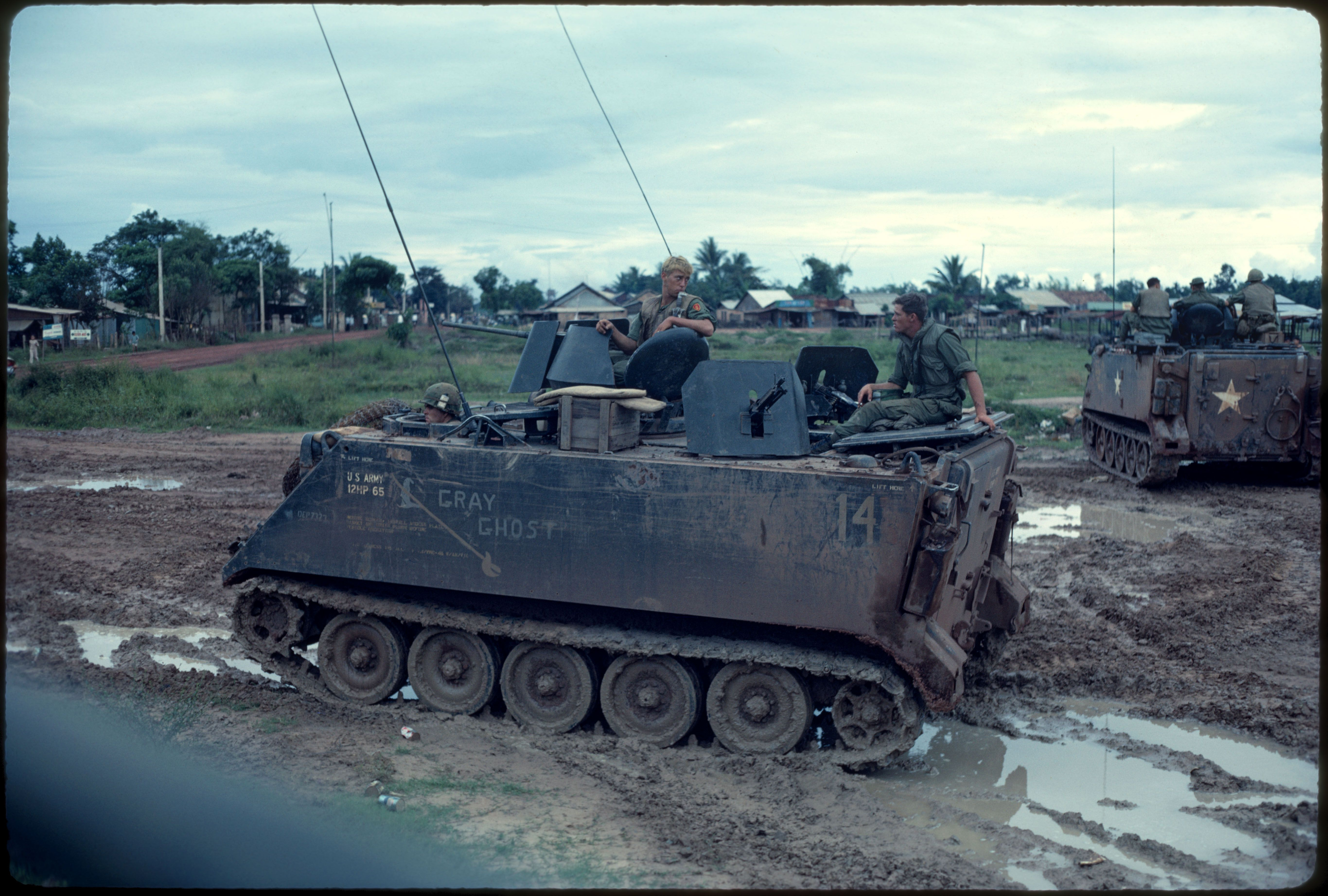U S Army M113 Apc Gray Ghost 1969 Vietnam War Kodachrome