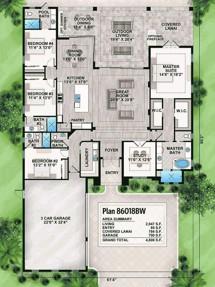 Striking Florida House Plan Florida House Plans House