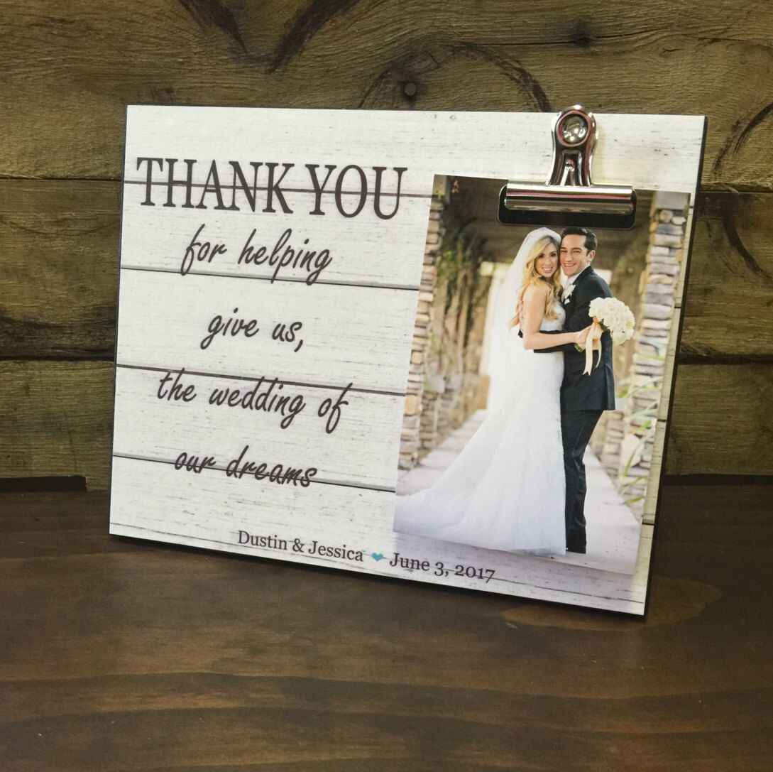 Wedding Officiant Gift Thank You For Helping Give Us The Of