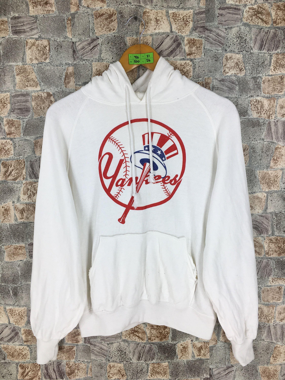 Ny Yankees New York Baseball Sweatshirt Hoodie Medium Vintage Etsy Sweatshirts Baseball Sweatshirts White Pullover Sweater [ 3000 x 2250 Pixel ]