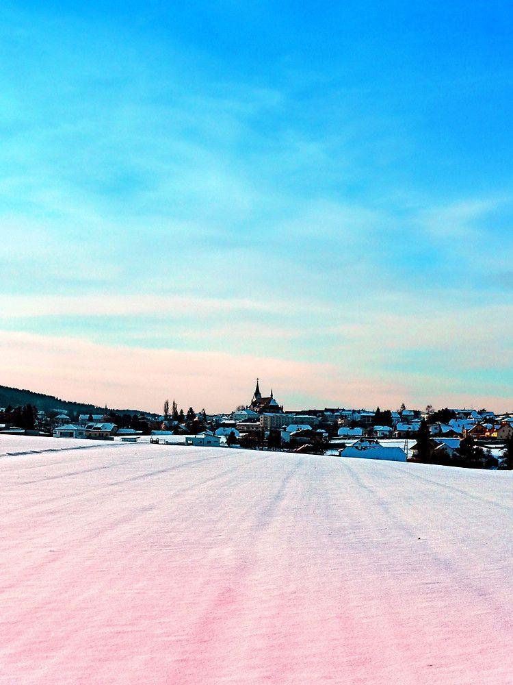Village scenery in winter wonderland. Aigen-Schlägl, Austria / Österreich