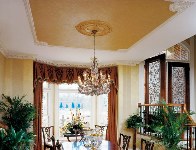 Ceiling Design And Dining Room Details Rooms With Such As Moldings Decorative Medallions Rims