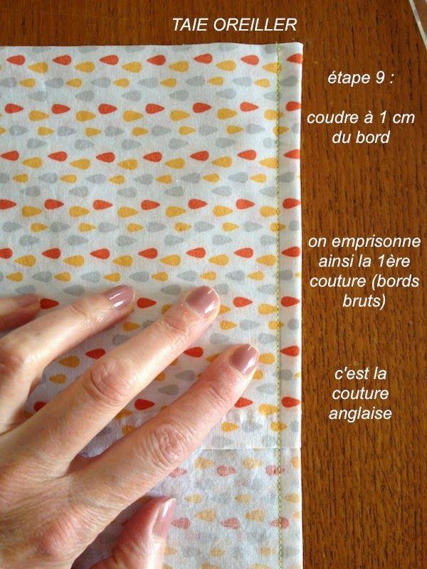 Couture pour la maison accessible tous niveau d butant coudre une taie rectangulaire de 47 - Couture pour la maison ...