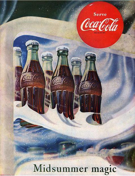 Pin On Coca Cola Retro Adverts