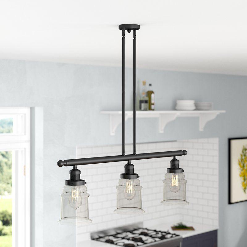 Greeley 3 light kitchen island linear pendant kitchen
