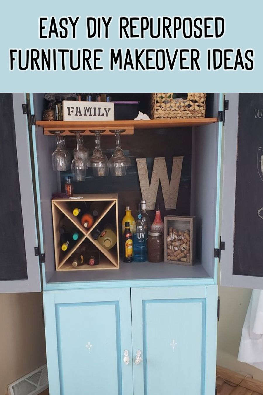How To Repurpose A Dresser Without Drawers Easy Diy Repurposed