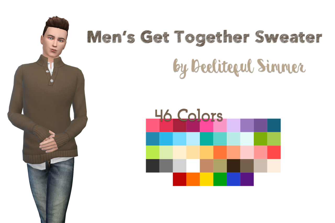 Hello My Fellow Simblrs First Up Today Is A Mens Sweater From Get