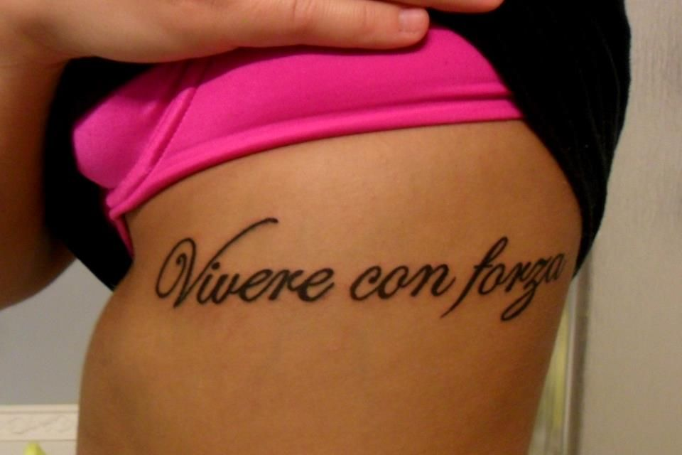 Just the wording and location font and size need to for Strength tattoos on ribs