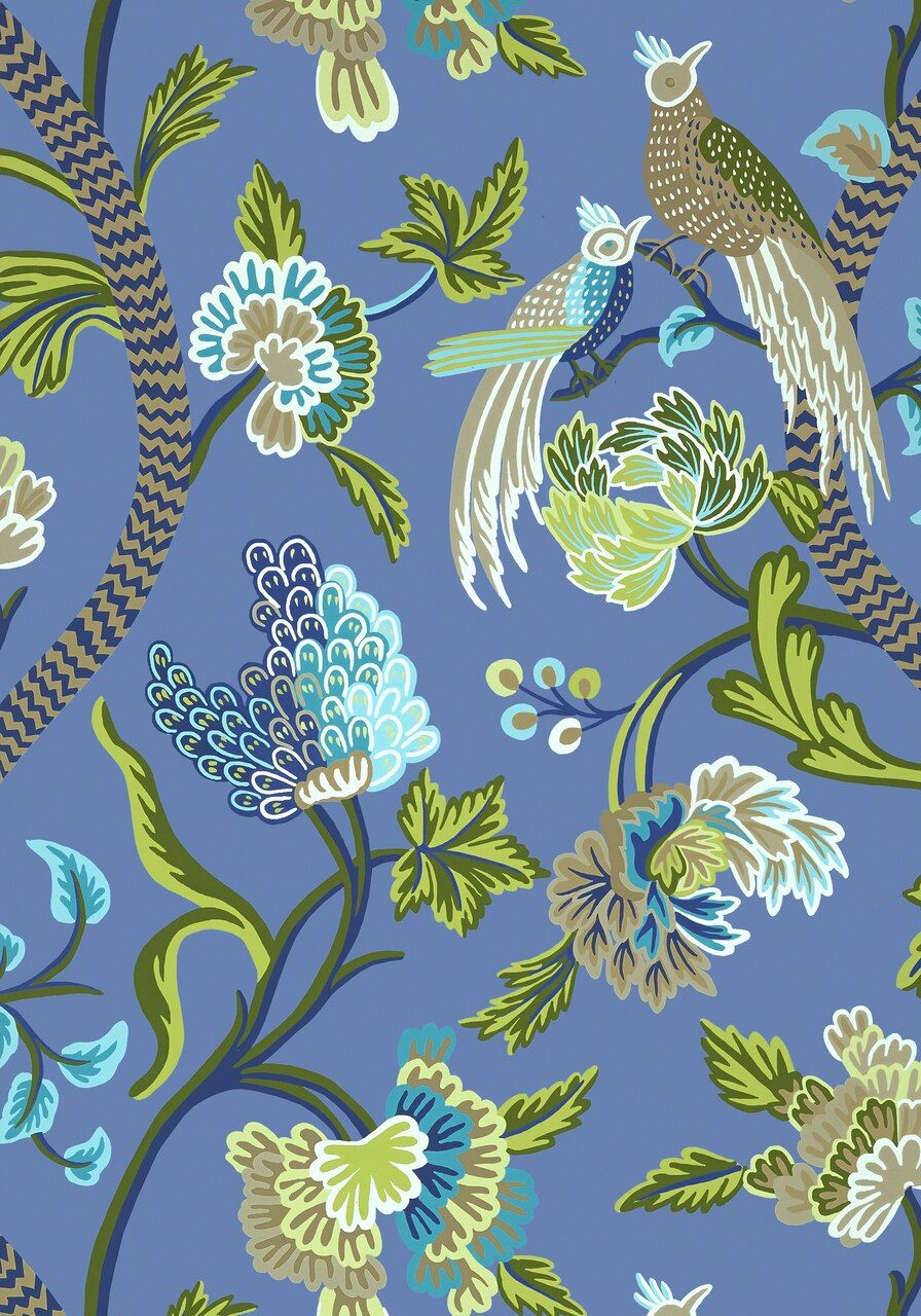 Janta bazaar blue in 2020 Chinoiserie wallpaper
