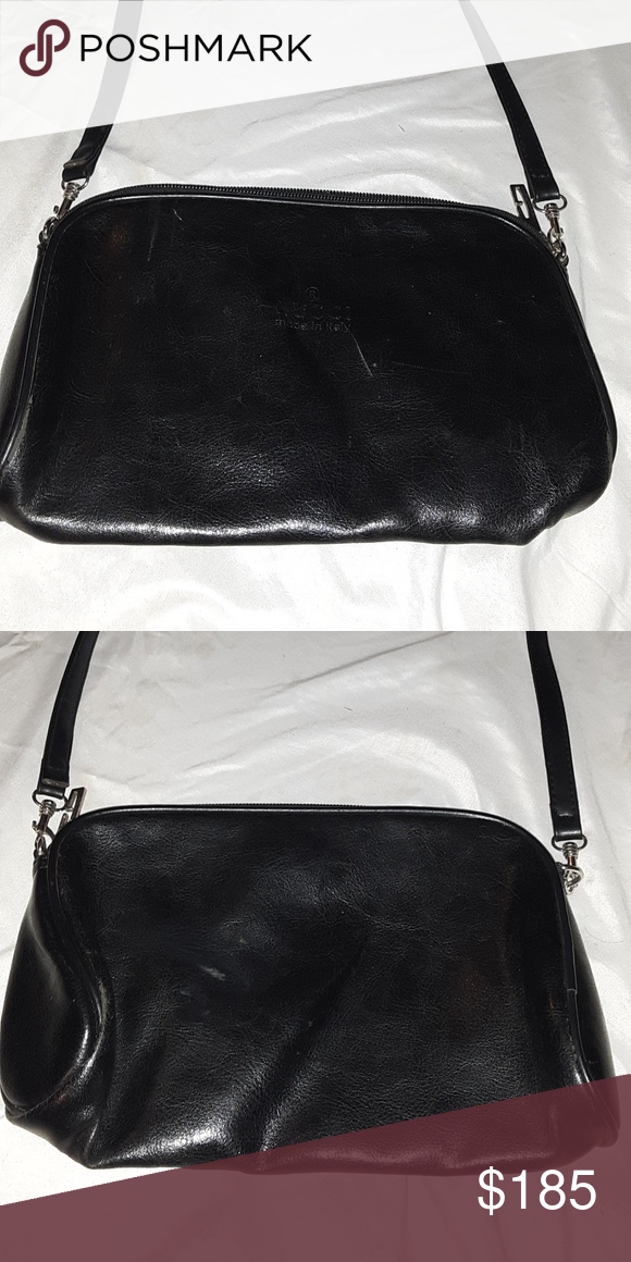 ec098c11fd Vintage Gucci leather bag Vintage leather gucci bag