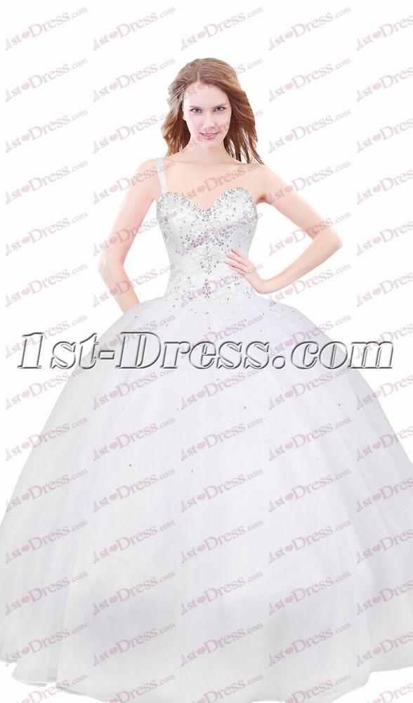 3b02f7ea156 1st-dress.com Offers High Quality Charming Ivory Formal One Shoulder Court  Dresses for Sweet 15