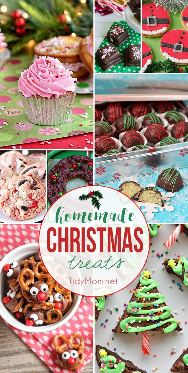 'Tis the season to satisfy your sweet tooth and start your holiday baking with homemade Christmas treats. Whether you're looking for an impressive cake for entertaining or cookies and fudge to deliver as gifts, I've got you covered. visit TidyMom.net for all the recipes!