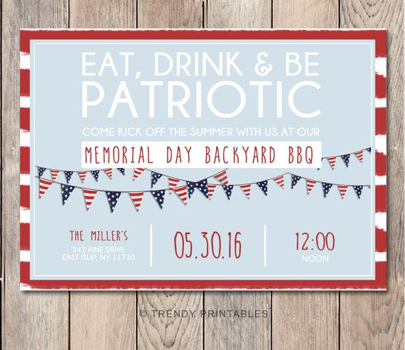 memorial day party invitation memorial day bbq memorial day party