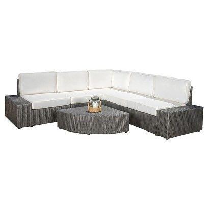 Christopher Knight Home Santa Cruz 6 Piece Wicker Patio Sofa Set   Gray