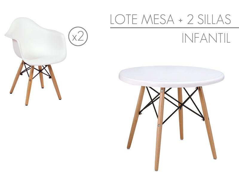 Conjunto mesa y 2 sillas Eames para niños | CHILDREN ROOM ...
