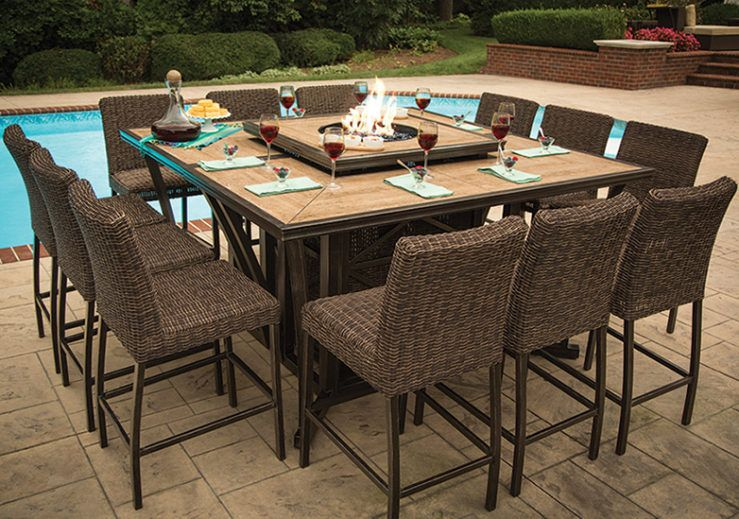 Franklin Fire Pit High Dining Set Outdoor Fire Pit Patio Fire