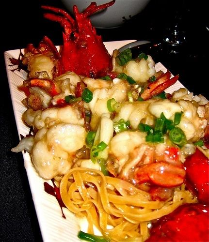 Best Chinese Duck Recipes: Lobster Cantonese Over Home-made Noodles- Chineese Food