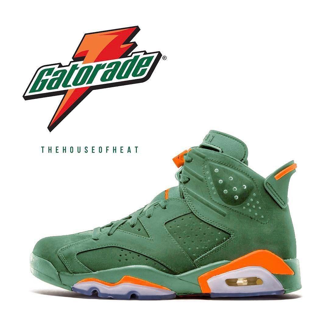 4b37854bd734 Men s Clothing GREEN Sick Sixes T Shirt for Jordan 6 VI Gatorade GREEN Suede  PRM Be ...