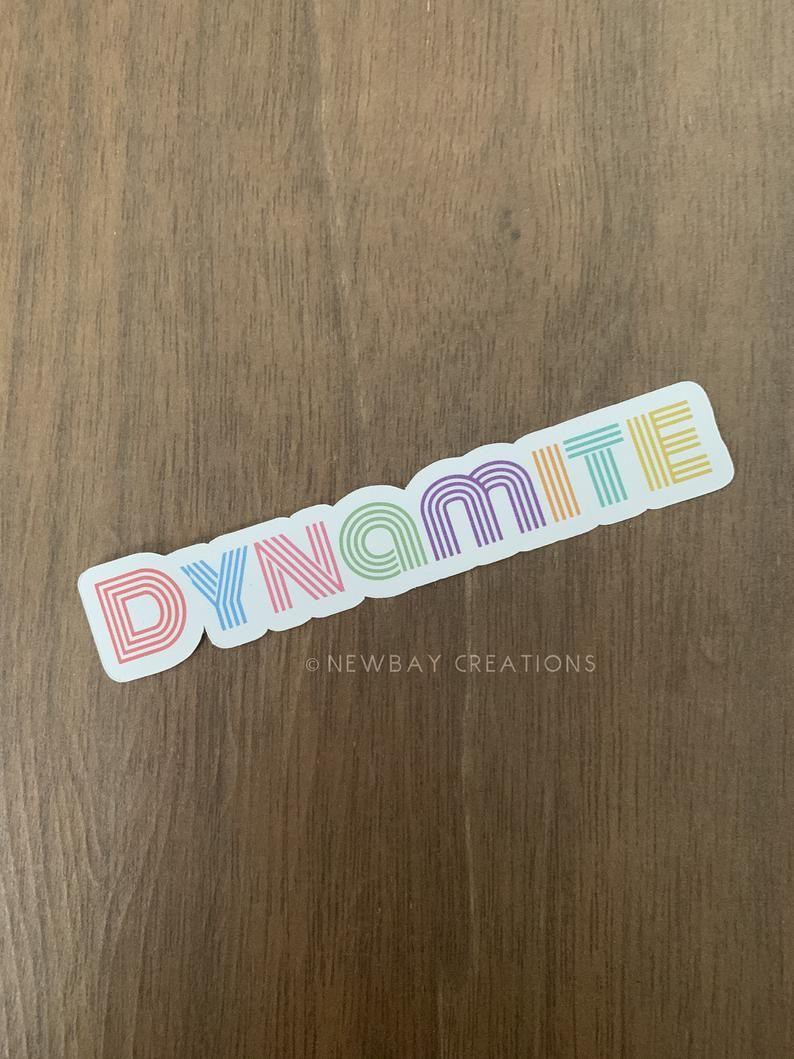 Dynamite No Face Bts Stickers Etsy In 2020 Vinyl Sticker Paper Sticker Paper Etsy