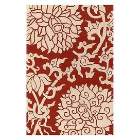 Love how deep red this rug is...