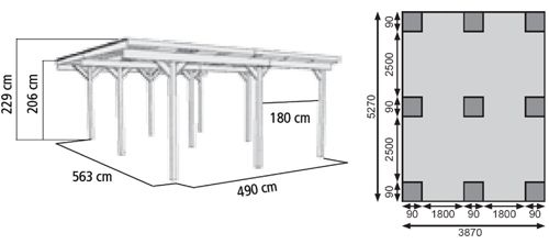 Dimensions of a carport google search carport for 1 car carport dimensions