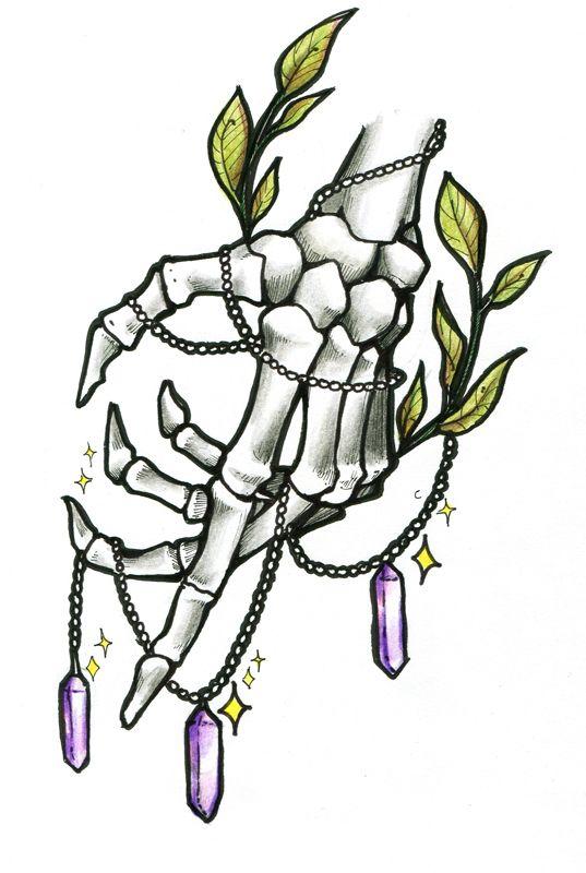 tattoo hand skeleton my artworks witch tattoo hand tattoos tattoos. Black Bedroom Furniture Sets. Home Design Ideas