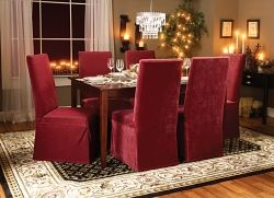 sure fit slipcovers: shades of red for an instant warm and festive