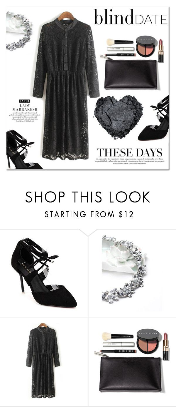 """""""Lace dress"""" by vanjazivadinovic ❤ liked on Polyvore featuring Bobbi Brown Cosmetics, women's clothing, women, female, woman, misses, juniors, polyvoreeditorial and zaful"""