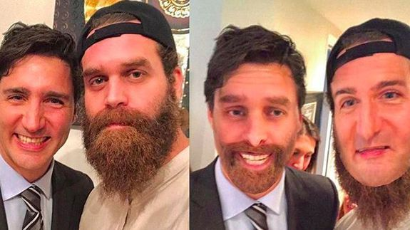 Anyway here's Justin Trudeau doing a goofy face swap on Rosh Hashanah