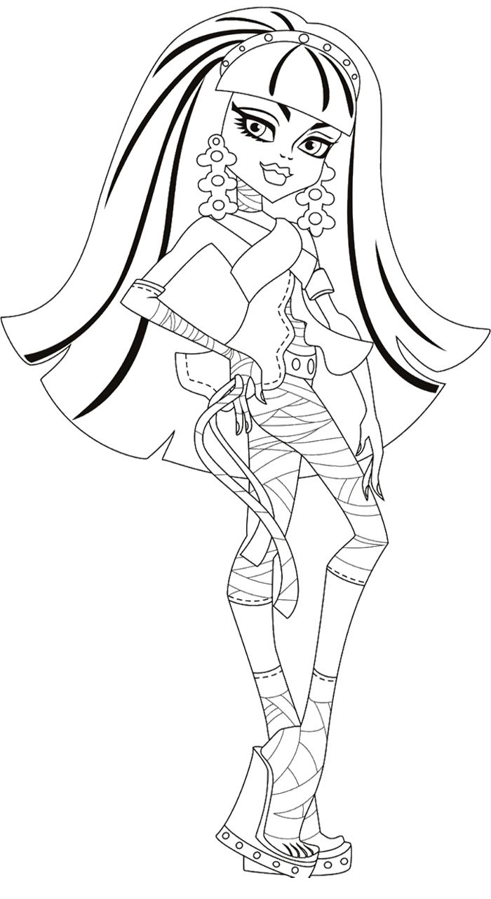 Cleo De Nile Little Girl Monster High Coloring Page | Color pages ...