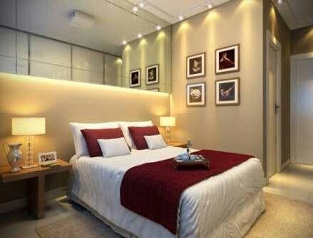 Quarto apartamento  decorado Trend Home em Santos