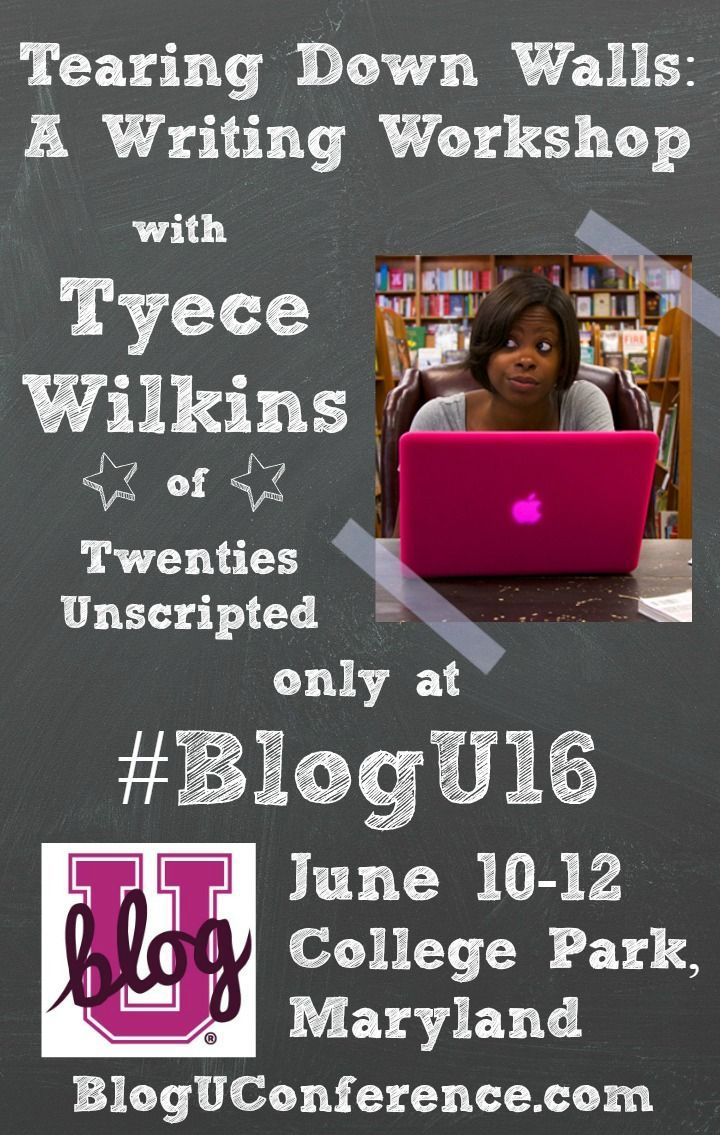 Vulnerability is the cornerstone of good writing and the element that connects us most to the reader. But, it is often times difficult to bring ourselves to that vulnerable place. This writing workshop, presented by Tyece Wilkins of Twenties Unscripted, explores this crucial element to meaningful writing, and will show you how to achieve your own personal level of vulnerability. Don't miss this amazing course at BlogU16! Register today!