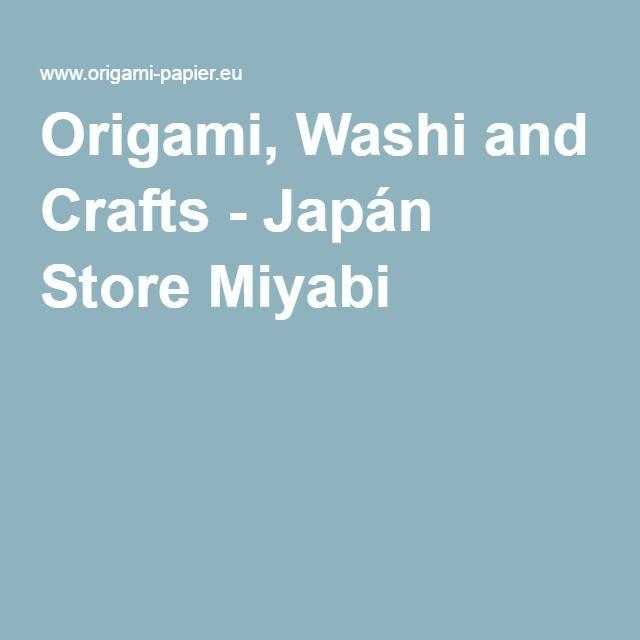 Origami, Washi and Crafts - Japán Store Miyabi