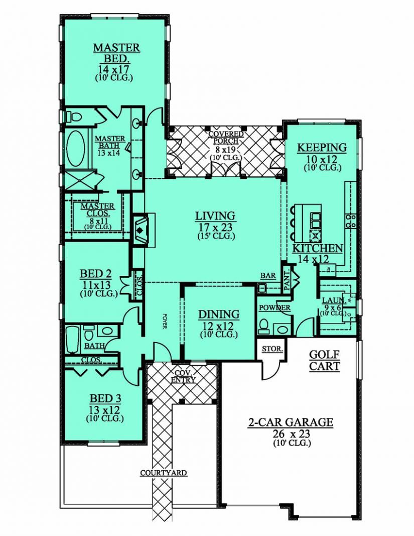 Simple House Plans 4 Bedrooms In 2020 Country Floor Plans Simple House Plans Bedroom Floor Plans