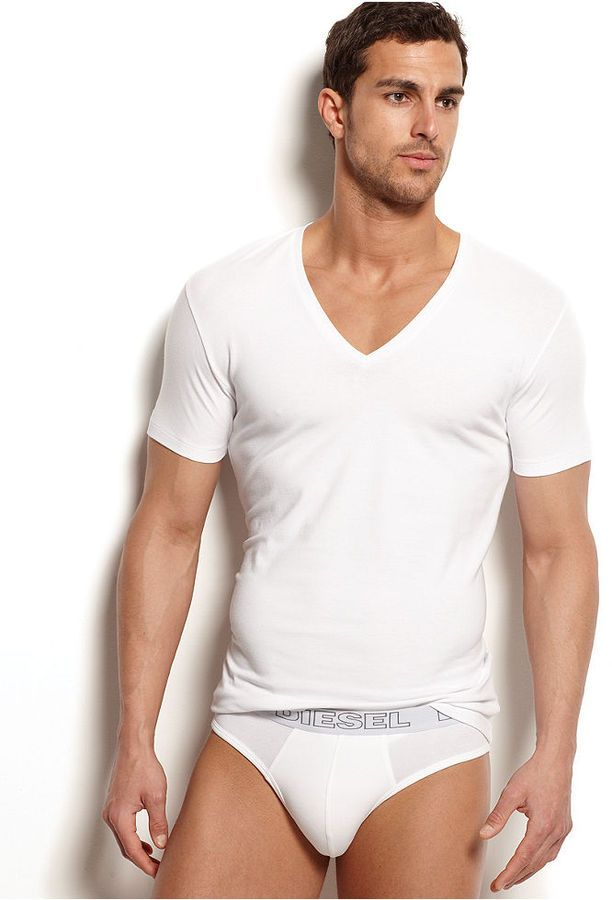 26f82a7c6f82 Diesel Essentials Cotton Stretch Jesse Deep V-Neck T-Shirt on shopstyle.com