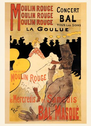 Moulin Rouge Lautrec Vintage French Posters Wall Art | Poster wall ...
