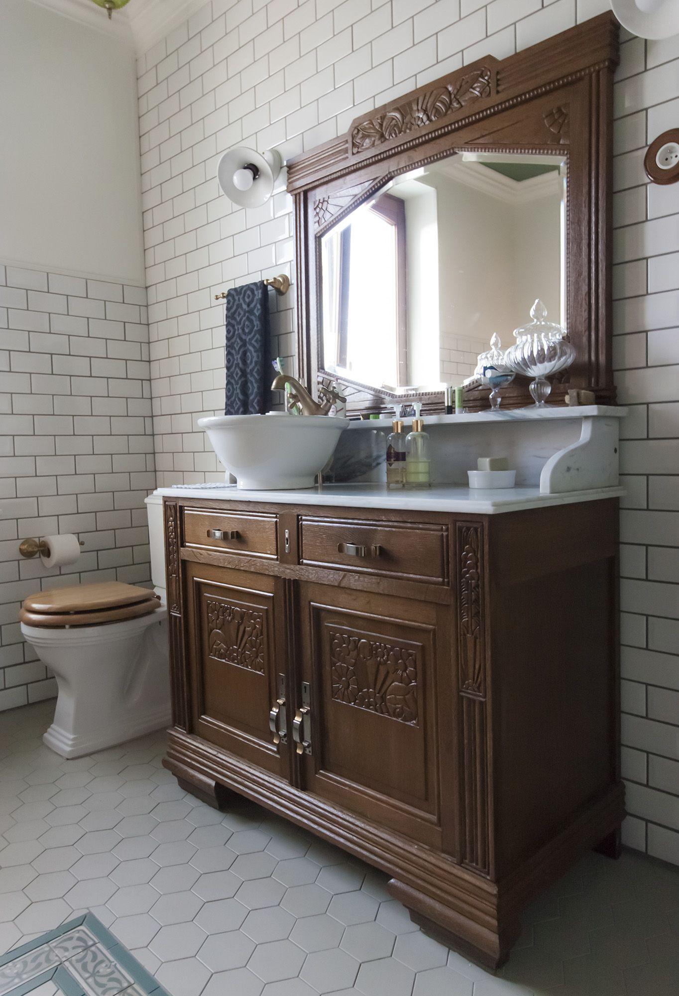 Antique washstandwashbasin vintage inspired 30s art