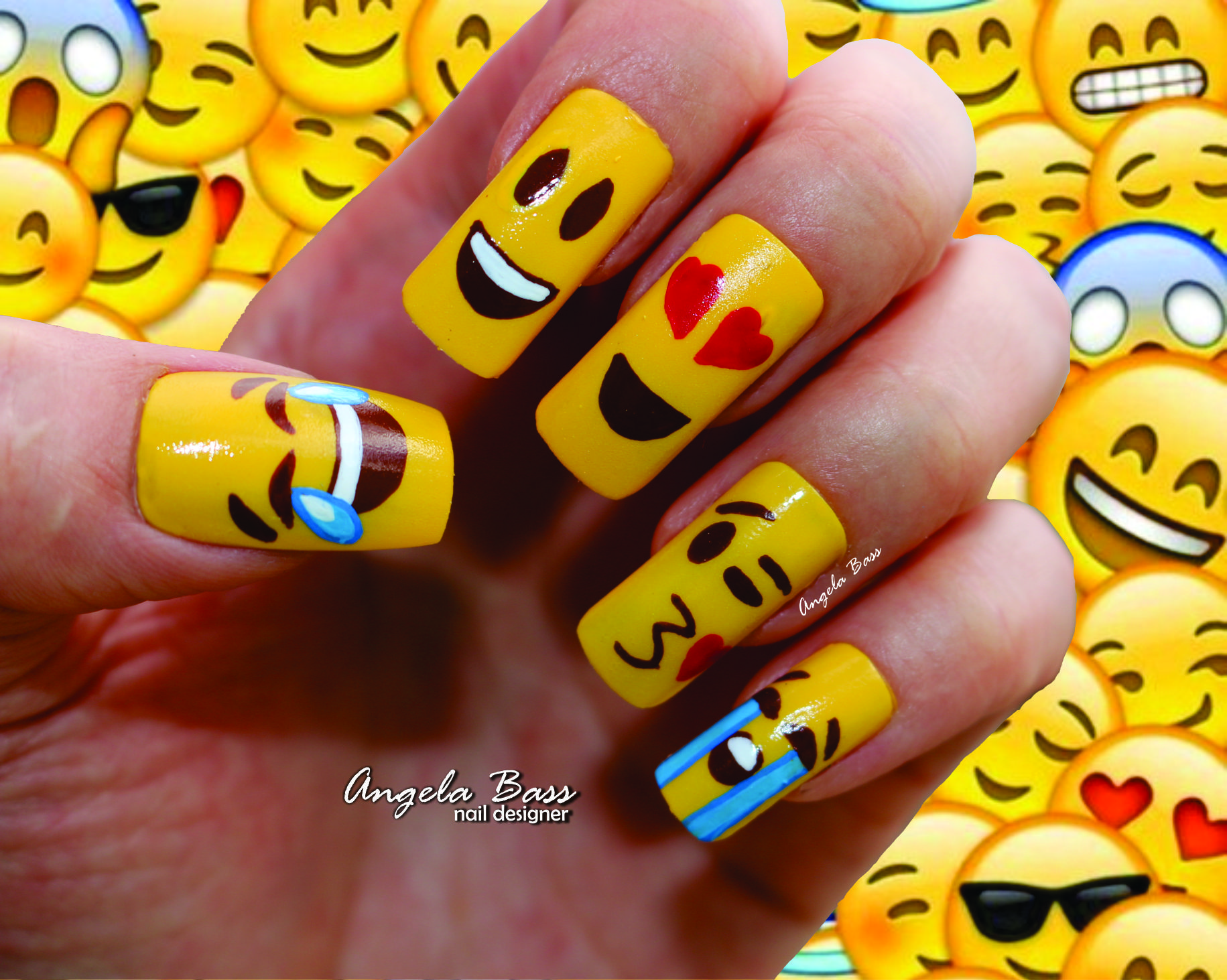 emojis/ emoticones   Uñas Angela Bass   Pinterest   Emojis