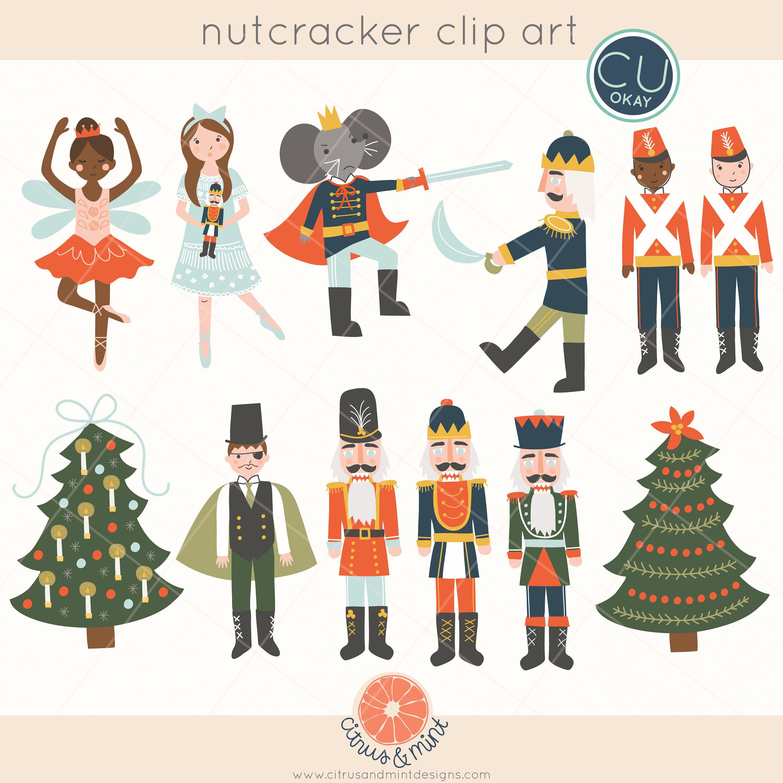 Nutcracker Ballet Christmas Clip Art Graphics - Holiday ...