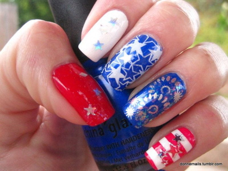 colorful 4th of july the best 4th july nail art designs for some fun diy time with your